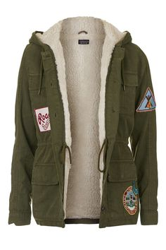 Badged Hooded Jacket - Topshop