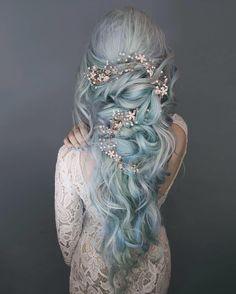 Lunar Tides Moonstone Blue Hair Dye on ice princess ❄️ @anya_anti Available worldwide at www.lunartideshair.com