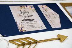 Wild Child Wedding Hochzeitspapeterie | Free Hearts | Hochzeitseinladung Dunkelblau Boho