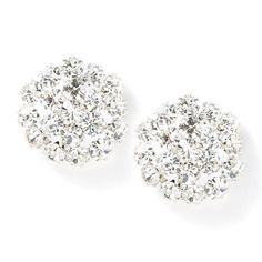 Crystal Flowerburst Stud Earrings