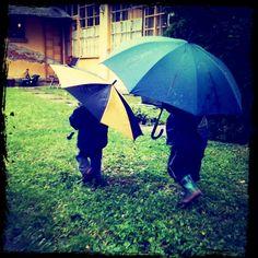 my nephews in the rain