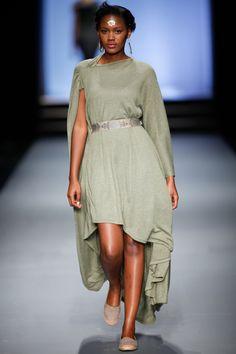 SIES!isabelle winter 2013, Bird dress in Sage with belt by Inbetween designers