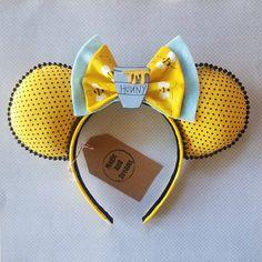 Winnie the Pooh Mickey Ears Disney Ears Headband, Diy Disney Ears, Disney Minnie Mouse Ears, Disney Headbands, Disney Diy, Ear Headbands, Disney Crafts, Mickey Ears Diy, Mickey Craft