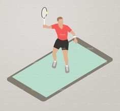Tennis App Illustration stock vector art 82486501 - iStock