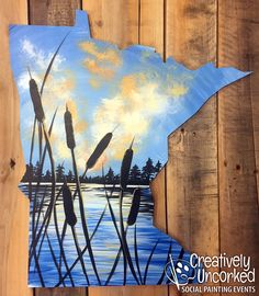 Minnesota Lake MN Board Pines Pallet Wood Painting | Creatively Uncorked | http://creativelyuncorked.com | Creatively Uncorked | http://creativelyuncorked.com