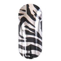 KOOKY Zebra Black & Silver Wraps