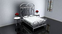 http://www.ireado.com/stylish-wrought-iron-bedroom-furniture/ Stylish Wrought Iron Bedroom Furniture : Sims 3 CC Gallery Wrought Iron Bed In White Wrought Iron Bedroom Furniture