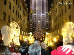 NUEVA YORK       ARBOL DE NAVIDAD DEL CENTRO ROCKEFELLER DE MANHATTAN, NUEVA YORK. FOTOS POR ARTUR CORAL. 5 DIC 2013
