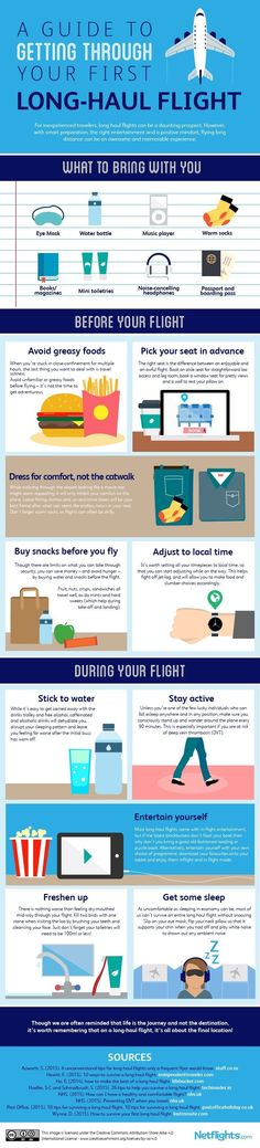 Infographic: How to get through your first long-haul flight - Matador Network #AustraliaTravelLongFlights