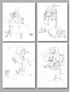 Old narrative drawings with single lines: one started with a particular figure somewhere and continued inventing the following figures and details ad hoc one by one – until the whole seemed balanced and the drawing was considered as finished.   Drawing and observing at the same time – the result finally remains a surprise, I am not a writer myself, but I imagine, it may be similar for someone inventing a story... Outsider Art, Single Line, Ad Hoc, Drawing S, Inventions, It Is Finished, Writer, Artists, Free