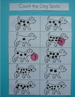 Kindergarten-Preschool Family and Pets Theme count the dogs spots