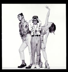Lady Miss  Kier: 1990 first time i went to london with my band Deee-lite. posing