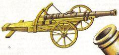 Feldschlange auf Burgunderlafette mit Richthörnern (2. Hälfte 15. Jh.)