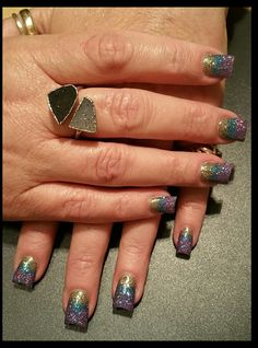 Gel with loose glitter