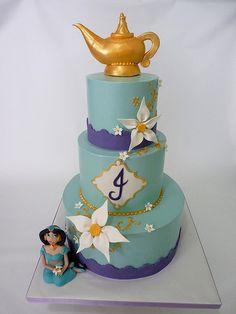 jasmin | three tier iced in buttercream lamp, jasmine,and fl… | Flickr - Photo Sharing!
