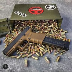 """TheGlock pistol, sometimes referred to by the manufacturer as a Glock """"Safe Action"""" Pistol or colloquially as aGlock, is a series ofpolymer-framed,short recoil-operated, locked-breechsemi-automatic pistolsdesigned and produced byGlock Ges.m.b.H., located inDeutsch-Wagram,Austria. It enteredAustrian militaryandpoliceservice by 1982 after it was the top performer on an exhaustive series of reliability and safety tests.  @sal_gunz"""