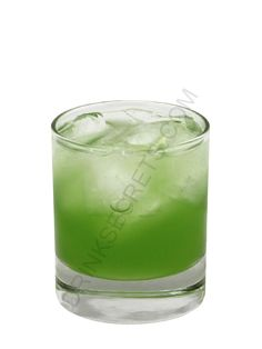 Kryptonite Cocktail  3/4 oz Captain Morgan spiced rum 3/4 oz Malibu coconut rum 3/4 oz Midori melon liqueur 3/4 oz pineapple juice Combine ingredients with ice in a cocktail shaker. Shake and strain into a cocktail glass, and serve.