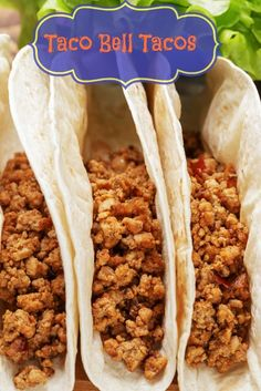 Make your own homemade Taco Bell Tacos with this copycat recipe.   #copycat recipe from CopyKat.com