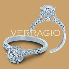 Verragio Classic-938R7 14 Karat Diamond Engagement Ring for about $2,150