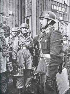 German paratroopers in Narvik, Norway 1940