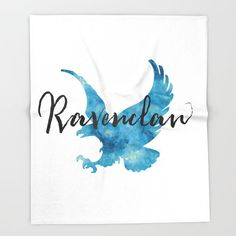 Ravenclaw Hogwarts House Pride Bed Throw Blanket by Literary Lifestyle Company - x Blanket Harry Potter Drawings, Harry Potter Houses, Hogwarts Houses, Book Necklace, Harry Potter Wallpaper, Lettering, Art Lessons, Ravenclaw Memes, Ravenclaw Logo