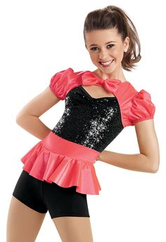 Satin Shrug Sequin Biketard -Weissman Costumes