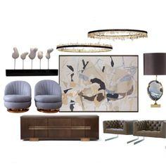 Ideas ! Feeling some Art Deco #design #interiordecoration #collage