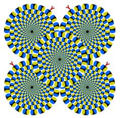 Una ilusión óptica bastante peculiar, que hace un efecto de movimiento al mirar los puntos negros, interesante.