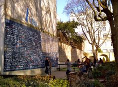 The Wall of Love in Montmartre - where all will be going on Valentine's Day