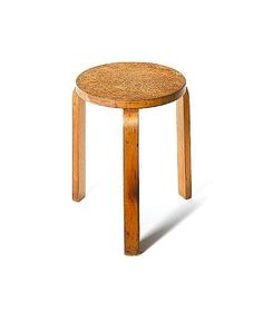 Alvar Aalto for Finmar, a '60' stool, designed 1933 in karelian birch