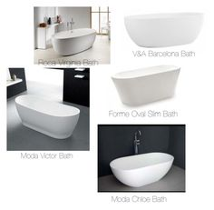 """""""Freestanding Oval Baths"""" by insideout1 on Polyvore featuring interior, interiors, interior design, home, home decor and interior decorating"""