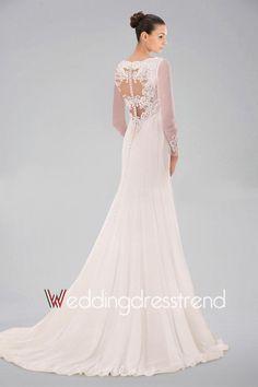 Cheap Gorgeous Appliqued Draped Sheath Lace Wedding Dress