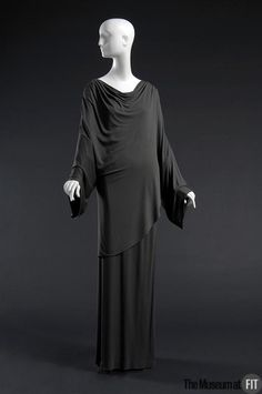 Evening set: tunic and dress | Designer: Madame Grès | France, late 1970's | Taupe matte silk jersey | The Museum at FIT, New York