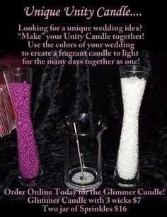 Such a fun Unity Candle idea that makes your big day even more unique!  www.pinkzebrahome.com/brianahollis
