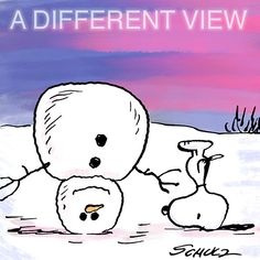 "snoopy and snowman upside down ""a different view"" Snoopy Christmas, Charlie Brown Christmas, Charlie Brown And Snoopy, Xmas, Peanuts Quotes, Snoopy Quotes, Peanuts Cartoon, Peanuts Snoopy, Snoopy Cartoon"