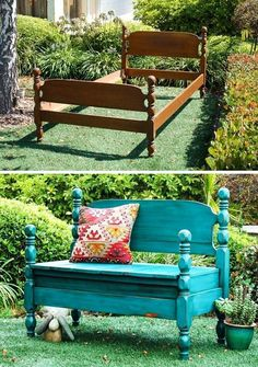 DIY Furniture Hacks Bed Turned Into Bench Cool Ideas for Creative Do It Yourself Furniture Cheap Home Decor Ideas for Bedroom Bathroom Living Room Kitchen a href reln.