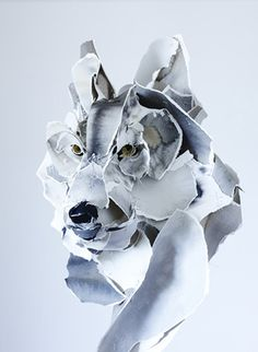 Anna-Wili Highfield - Paper sculptures  Why I like this: She uses (sort of) common material, paper, and manipulates it into a 3-dimensional piece through tears, bends, and folds.