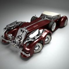 rolls royce steampunk 3d model - SteamPunk Car by Render Steel