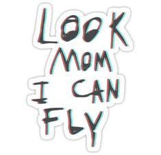 "'Travis Scott ""Look Mom I Can Fly""' Sticker by codyko Die-cut vinyl sticker. Wish You Are Here, I Can, Travis Scott Birds, Travis Scott Tattoo, Travis Scott Quotes, Arte Do Hip Hop, Travis Scott Wallpapers, Hip Hop New, Travis Scott Astroworld"