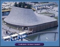 Expo le pavillon des provinces de l'Ouest du Canada We drove all the way from Georgia to go to this Expo. Expo 67 Montreal, Quebec Montreal, Montreal Ville, Niagara Falls Pictures, Photo Vintage, Lounge, World's Fair, Architecture, Images