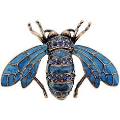 Enhance your unique style or collection with this one-of-a-kind Blue Honey Bee Crystal Pin Brooch. This honey bee brooch features an antique finish enhanced by sparkling blue cubic zirconia accent cry Insect Jewelry, Animal Jewelry, Bee Brooch, Brooch Pin, Bumble Bee Jewelry, Antique Jewelry, Vintage Jewelry, Safety Pin Jewelry, Blue Charm