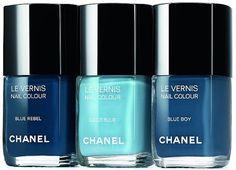 Blue nail polish shades