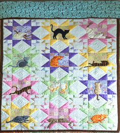 Gorgeous cat quilt to benefit Siamese cat rescue