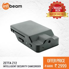 DEAL OF THE DAY !  Zetta Z12 Intelligent Security Camcorder at Lowest Rate from Infibeam's MagicBox !  #MagicBox #Deals #DealOfTheDay #Offer #Discount #LowestRates #CarSafety #SecuritySystem #SecurityEquipment