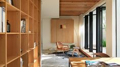 Taiwanese firm Soar Design Studio has refurbished a house in the city of Taichung, creating connected spaces and garden terraces Residential Interior Design, Home Interior Design, Wabi Sabi, Contemporary Shelving, Muji Home, 1960s House, Corporate Interiors, Space Architecture, Architecture Renovation