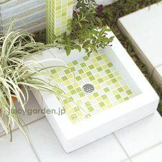 モザイクタイル製 立水栓の水受け「モゼック パン」|エクステリア用品通販のジューシーガーデン