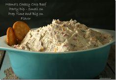 Mama's Cheesy Chip Beef Party Dip Recipe 2 8 oz. blocks of PHILADELPHIA cream cheese, softened 8 oz. Appetizer Dips, Yummy Appetizers, Appetizers For Party, Appetizer Recipes, Snack Recipes, Cooking Recipes, Antipasto, Cheesy Chips, Beef Dip