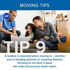 Moving Tip #9: A toolbox is essential when #moving in - whether you're hanging pictures or repairing #fixtures. Electing to not pack it away will make the process much easier. Re-pinned by www.sodacitymovers.com