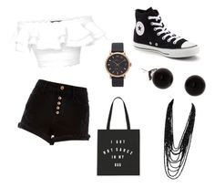 """""""Monday Outfit"""" by rackwitz-victoria ❤ liked on Polyvore featuring River Island, Alexander McQueen, Converse and Marc Jacobs"""