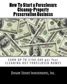 Cleaning foreclosures for bank owned properties. Start a cleaning service in California. Home repos need property preservation services. Business Planning, Business Tips, Online Business, Craft Business, Business Cards, Foreclosed Properties, Bank Owned Properties, Hud Homes, Foreclosed Homes